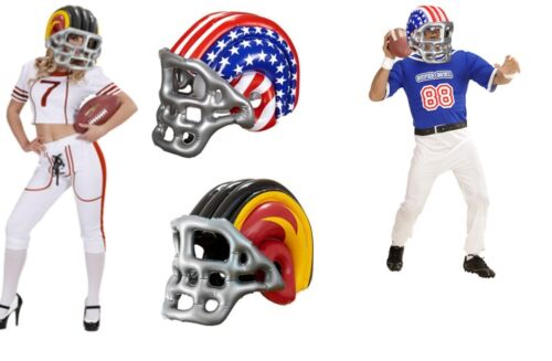 Unisex American Football Helmet Inflatable Blow Up Fancy Dress Super Bowl NFL