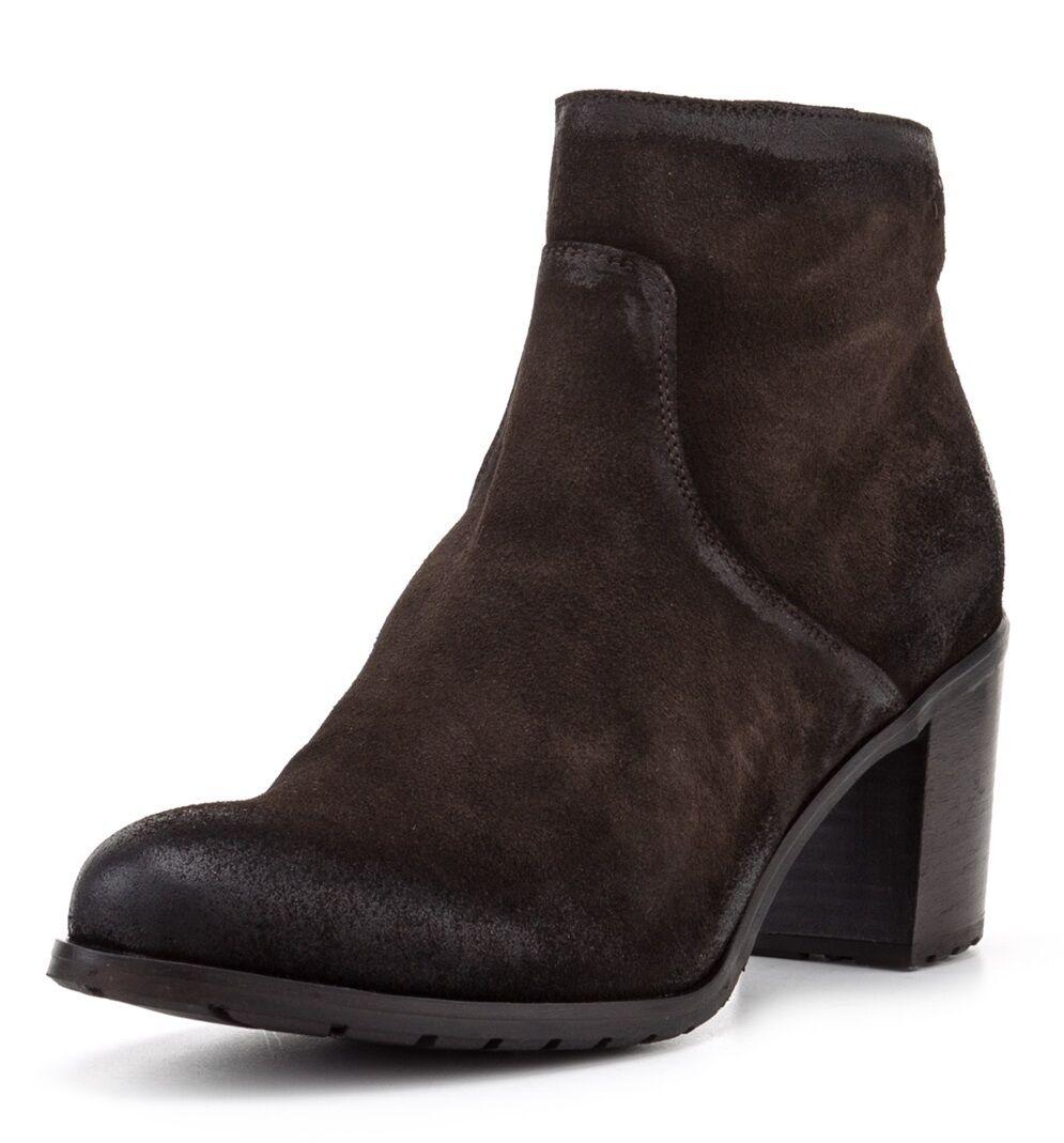 MANAS Ankle Stiefel Floria, Gr. 39, NEU,   , Leder, Absatz 7 cm, d-braun