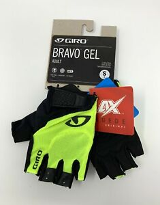 Giro-Bravo-Gel-Yellow-Cycling-Gloves-Size-Small-New-with-Tags