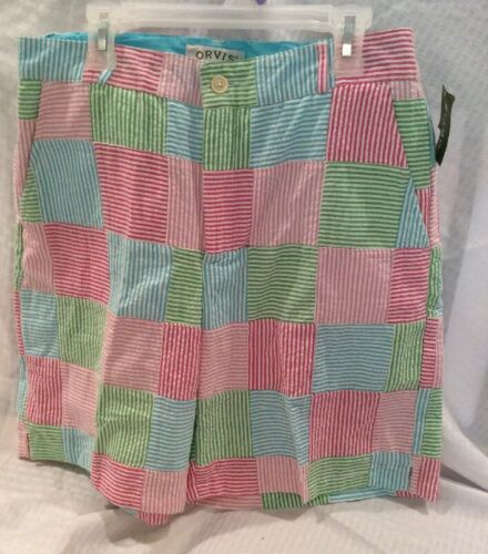 Multi Stripes Taglia 4 Women Colore Seersucker Orvis Bermuda Shorts New azUxAwU