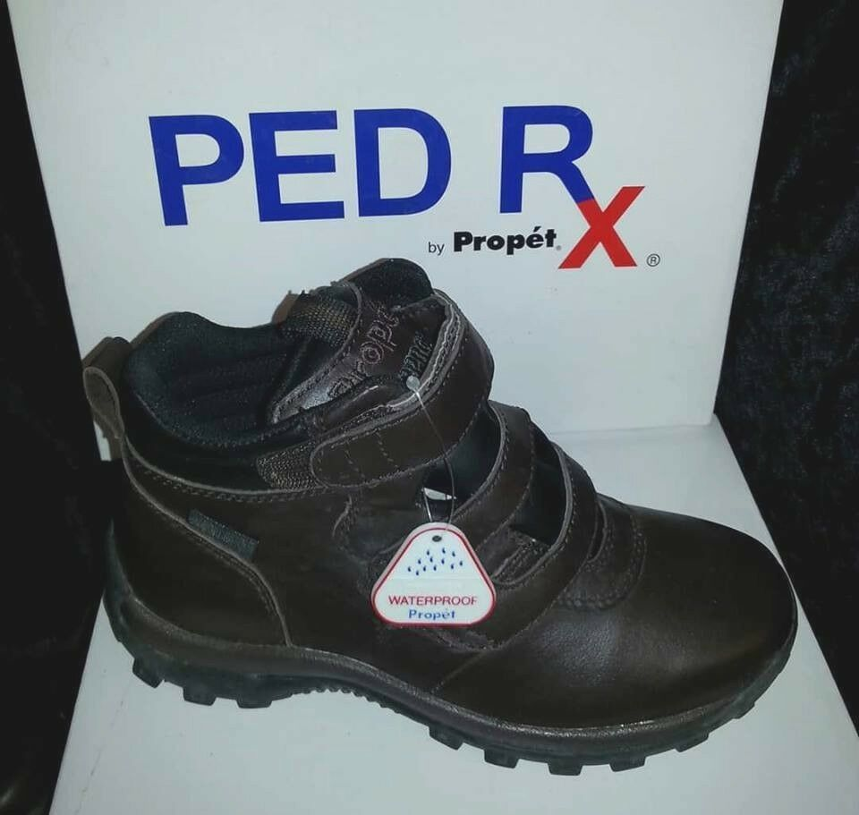 Propet Cliff Walker Strap Boots - - - Bronco Brown Nappa for Women Size 6M NIB 3141ae