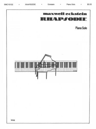 Rhapsodie Sheet Music for Piano NEW 014027280