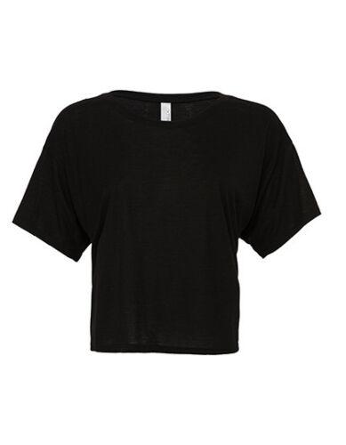 Bella Damen T-Shirt FLOWY BOXY T-SHIRT Rundhals Kurzarm Neu BL8881