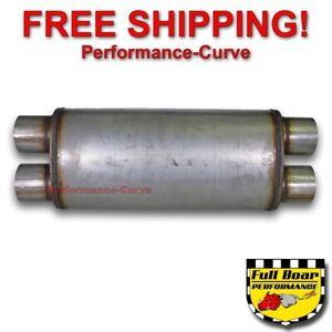 "Dual 2.5/"" MF2468 Dual 2.5/"" Performance Exhaust Muffler 18/"" MAX FLOW SS 5x8"