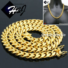 """24""""MEN Stainless Steel HEAVY 12mm Gold Miami Cuban Curb Link Chain Necklace*N154"""