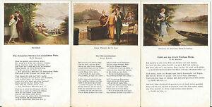 Big Lot of 1920s German Artistic Song Lyrics Postcards