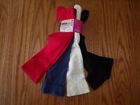 Womens Burlington Skinny Boot Socks Shoe Size 5-10 4 Pack Red Black Blue