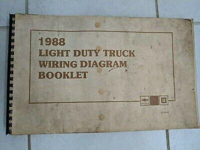 1987 CHEVROLET LIGHT DUTY TRUCK WIRING DIAGRAM BOOKLET MANUAL ST-350-87 |  eBayeBay