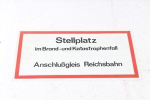 Old Shield Warning Sign Parking Space Siding Reichsbahn 40,9cm x 22,5cm