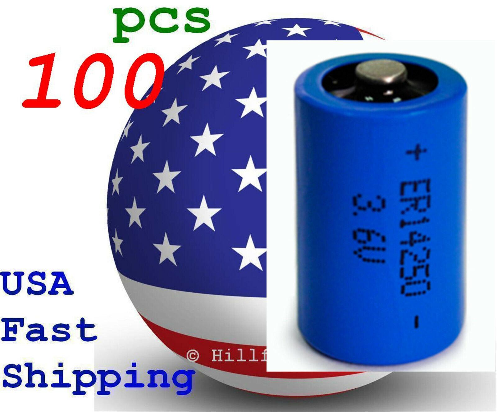 100 pcs ER14250 1/2AA 14250 LS14250 Bulk 3.6V Lithium Battery