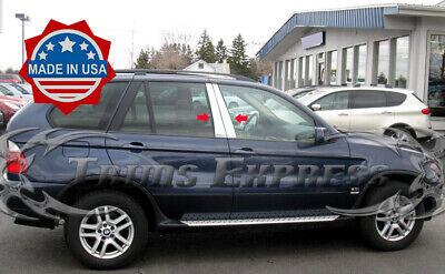 TYGER Fits 97-03 BMW 5 4PC Stainless Steel Chrome Pillar Post Trim