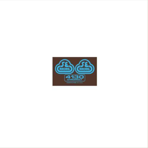 SE Racing 4130 seat mast decal blue//brown