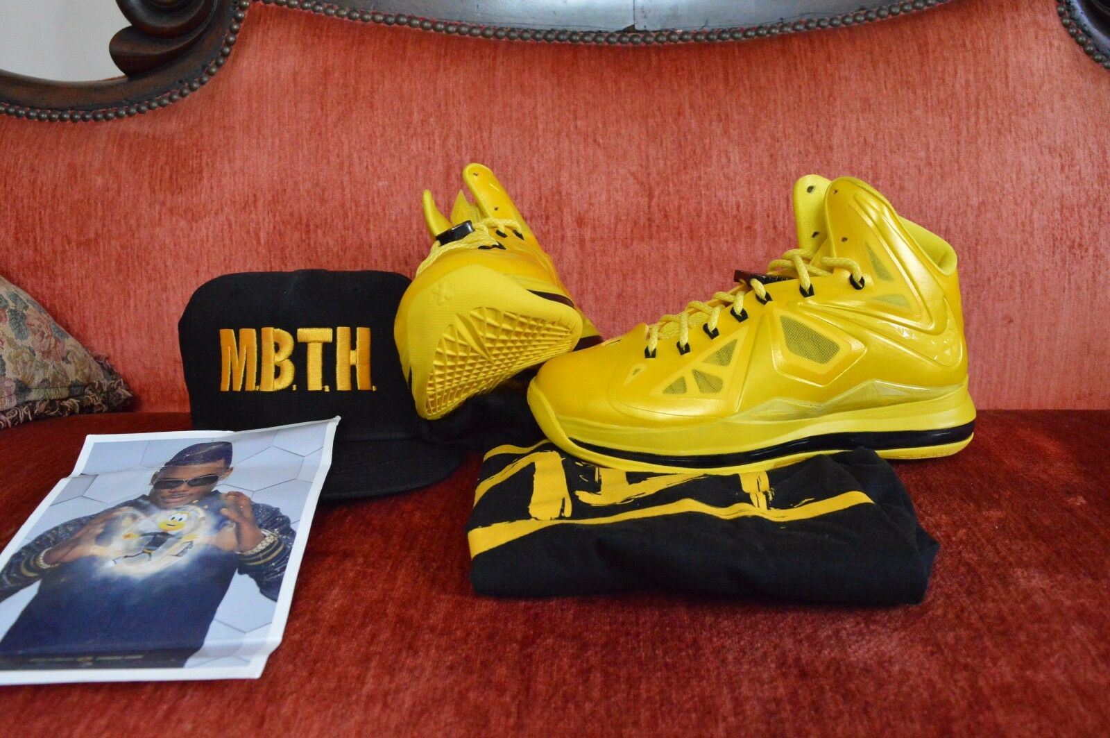 7719beee88e ... NEW Nike Lebron X 10 Must Be The PE Honey Size 8.5 Honeywell PE The  Sample .