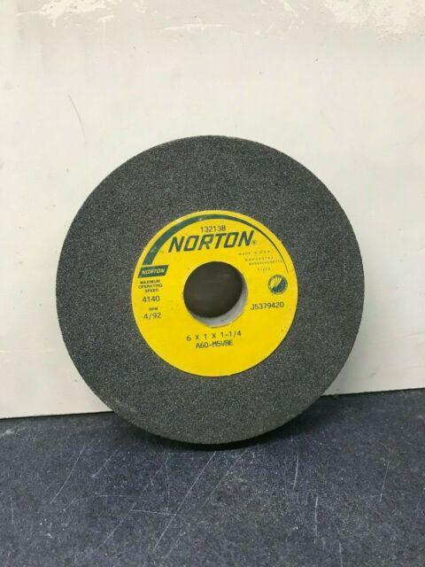 GW029-D-2 Norton 6x1//2x5//8  A60-M5-VBE Gray Grinding Wheels 2 Pc