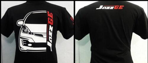 Honda Jazz Fit GE Voiture Racing Gildan Ultra Noir Lourd T-shirt en coton
