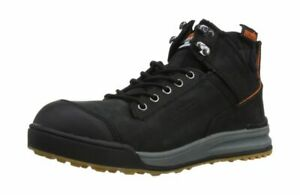 Scruffs T52342 Switchback Safety Leather Boots for Men 9 UK Size - Black