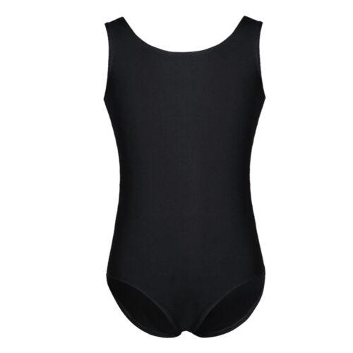 Girls Basic Gymnastic Leotard Ballet Dance Bodysuit Sportswear Dancewear Costume