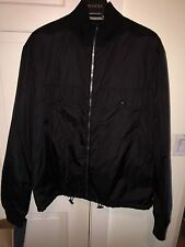 Gucci Reversible Bomber Jacket Black/Blue Size 56/XXL *PREOWNED*