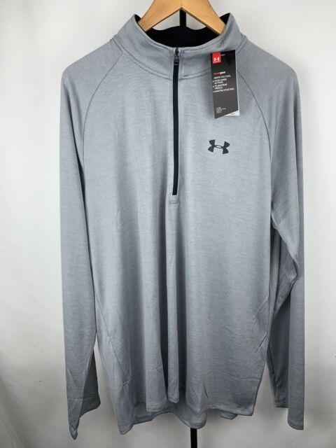 New Under Armour UA Tech 2.0 Long Sleeve 1//2 Zip Pullover Shirt Grey Size XL