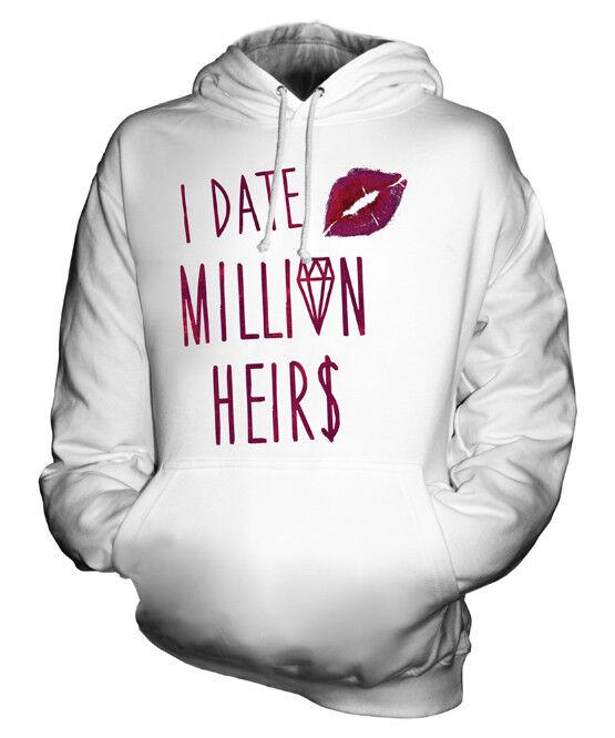 I DATE MILLION HEIRS UNISEX FUNNY SWAG HOODIE  Herren Damenschuhe LADIES SWAG HIPSTER