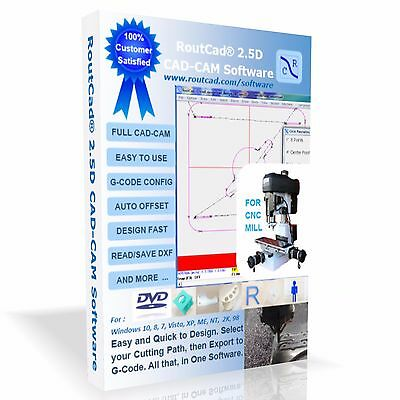 CAD CAM CNC Software Export G-Code for Mach 3, MAXNC,etc for CNC Milling |  eBay