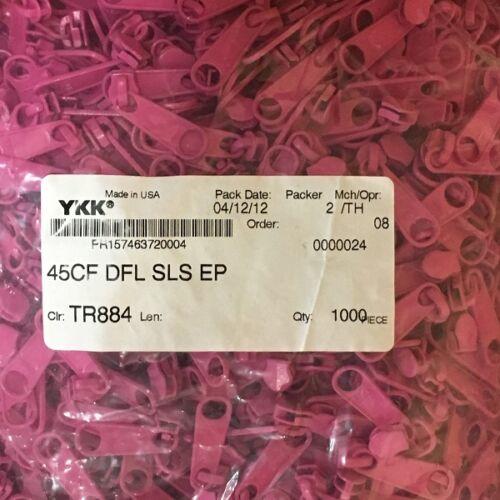 """25-50-100-500-1000 1/"""" YKK Long Zipper Pulls Slide 4.5 CF DFL Hot Pink"""