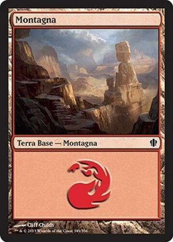 20x Mountain 349-Mountain 349 MTG Magic c13 Commander 2013 ita