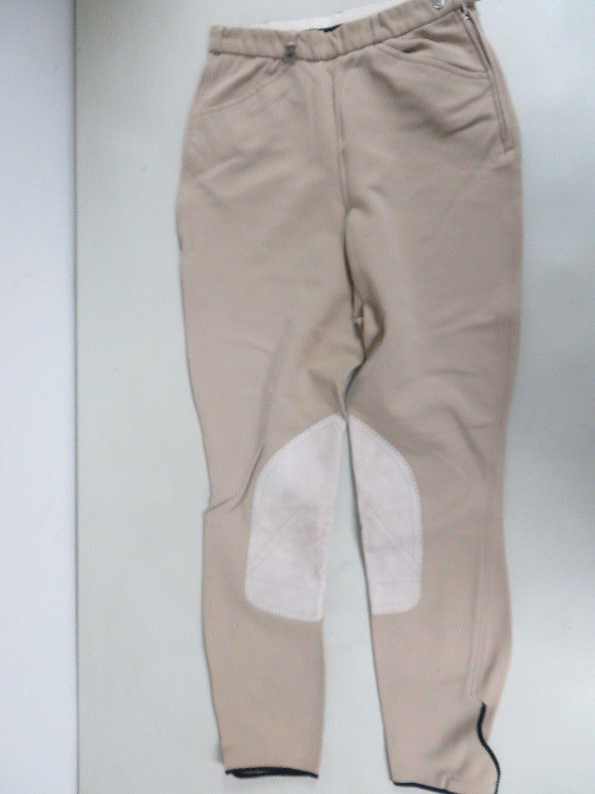 PIKEUR Germany Multistretch Elastic waist Velcro hem Riding tan Breeches 28
