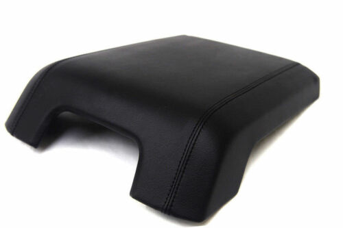 For 11-16 Ford F250 Super Duty Faux Leather Center Armrest Cover Black