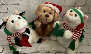 kids of america corp christmas dog cat cow plush