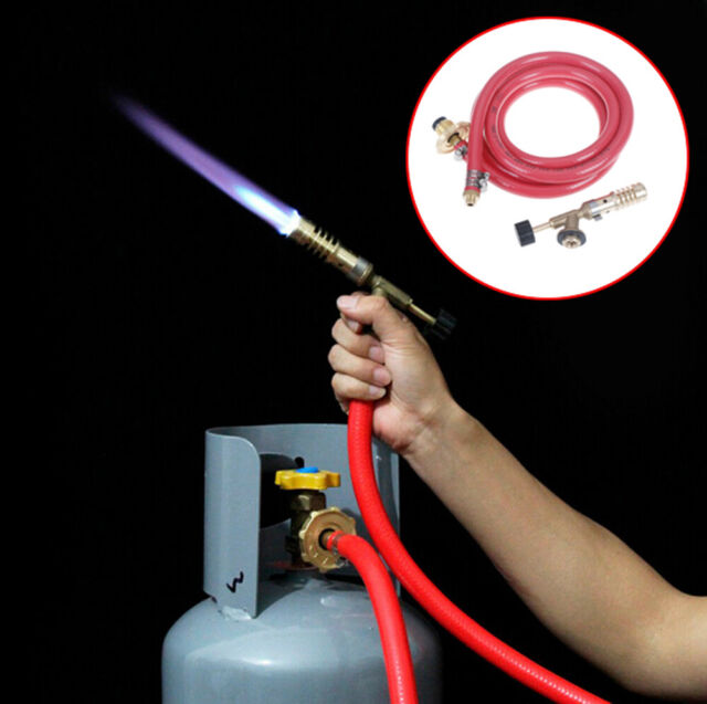 Gas Self Ignition Plumbing Turbo Torch With Hose Solder Propane Welding Kit~ii