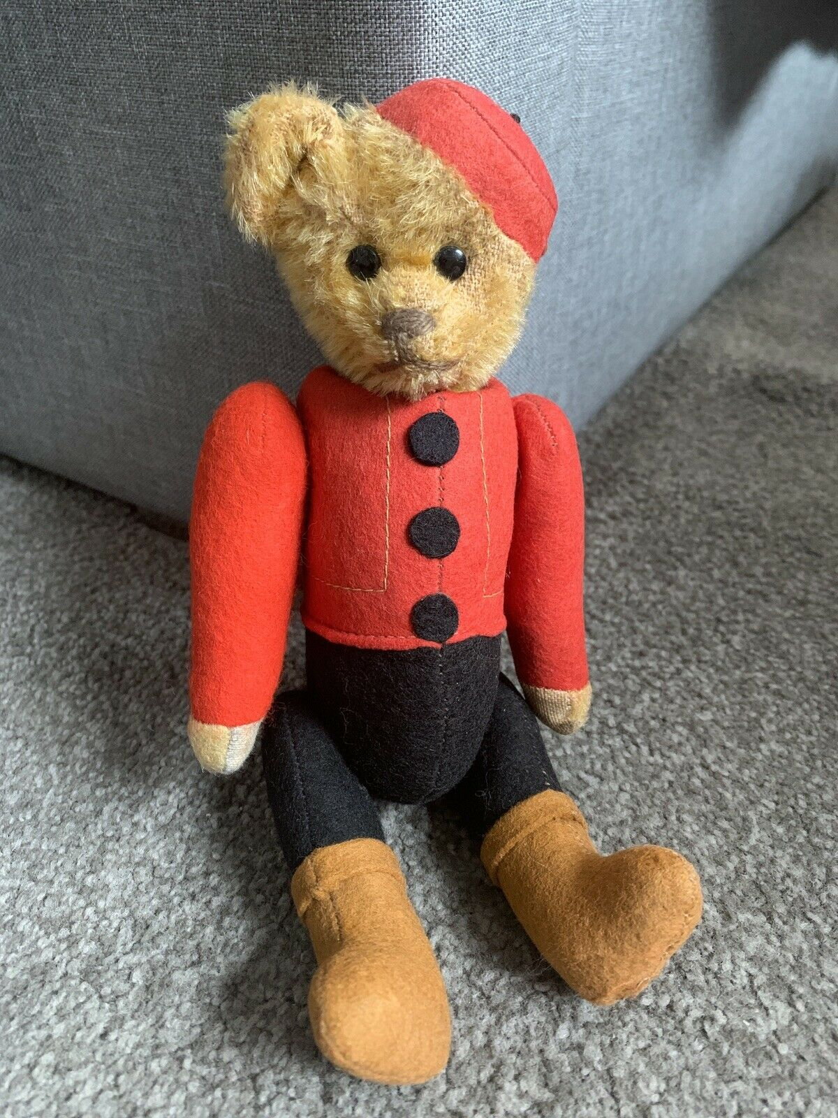 """Antique Schuco Bear In Bellhop Uniform 9"""" Excellent All Intact Must See Buy Now"""