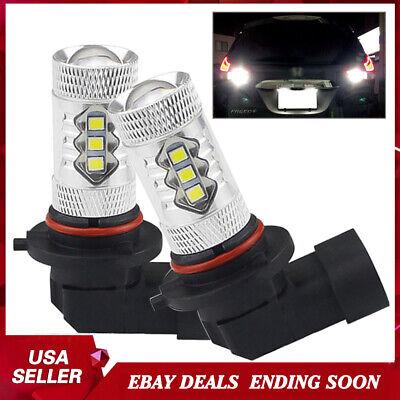2x White 16-SMD 9006 9012 HB4 LED Fog DRL Driving Light Lamp Bulbs