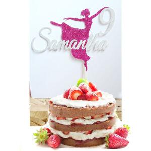 Fine Ballerina Birthday Cake Topper Personalised Custom 28 Glitter Birthday Cards Printable Opercafe Filternl