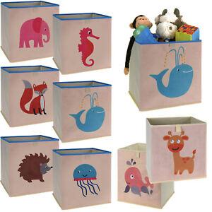Kinder Aufbewahrungsbox Faltbar Tiere Klappbox Faltbox Korb Box Spielzeug Kiste Ebay