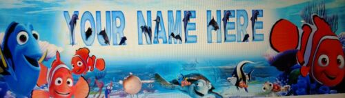 """PERSONALIZED  POSTER //BANNER  W// YOUR NAME 30/""""X8.5/"""" #150 FREE FINDING NEMO"""
