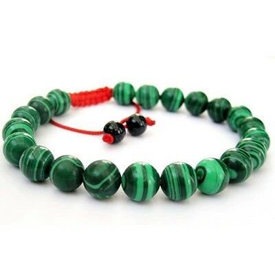 Green Stripe Gemstone Beads Tibet Buddhist Prayer Beads Mala Bracelet