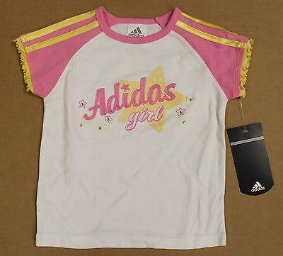 adidas Neon Pink Ruffle Hoodie Toddler & Girls
