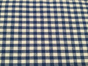 100-Cotton-Fabric-by-Metre-Fat-Quarters-Blue-1-4-034-Gingham-Check-Curtains-Craft