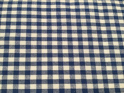 """100/% Cotton Fabric Metre Fat Quarters Yellow 1//8/"""" Gingham Check Curtains Craft"""