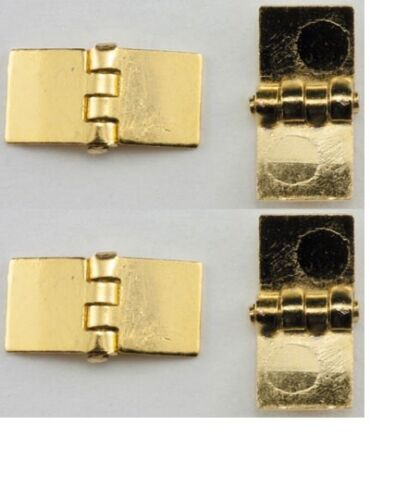 4//Pk #CLA05540 Dollhouse Miniatures 1:12 Scale Square Hinges,Brass