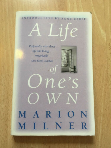 1 of 1 - A Life of One's Own Paperback Book Joanna Field Marion Milner Psychology Self