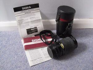 Sigma-Telephoto-Lens-Zoom-1-35-4-5-Original-Instructions-Filter-55mmUV