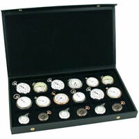 Pocket Watch Display Case Storage Box For 18 Watches