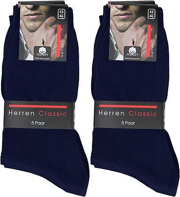 10 Paar Herren Socken blau 100% Baumwolle ohne Naht ...