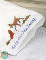 Cross Stitch Kit Disney / T. Kinkade Lady And The Tramp Pillowcases (2) 53557