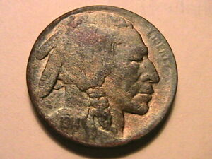 1914-D-Buffalo-Nickel-5C-XF-Extra-Fine-Nice-Toned-Scarce-Date-USA-Five-Cent-Coin