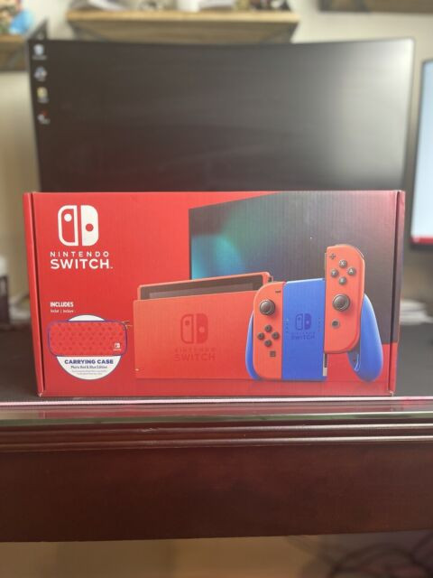 ✅Nintendo Switch MARIO Red & Blue Limited Edition Console w/ Case 🚚FAST SHIP🚚