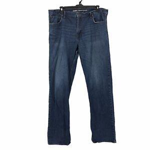 Old-Navy-Mens-size-42x36-Medium-Wash-Denim-Regular-Fit-Straight-Leg-Blue-Jeans