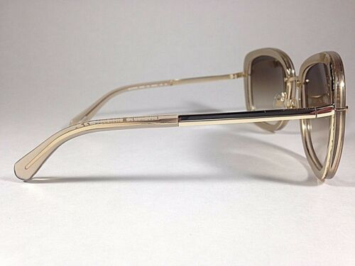 ebfc785cdf624 6 of 12 Kate Spade Women s Scottie Butterfly Sunglasses Gold Glitter Brown  Gradient New